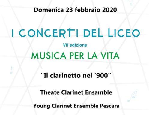 """Musica per la vita, in Casa Ail """"Il clarinetto del '900"""" per i concerti del liceo"""